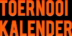 Toernooi kalender 2019-2020